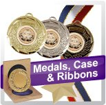 Medals, Case & Ribbons